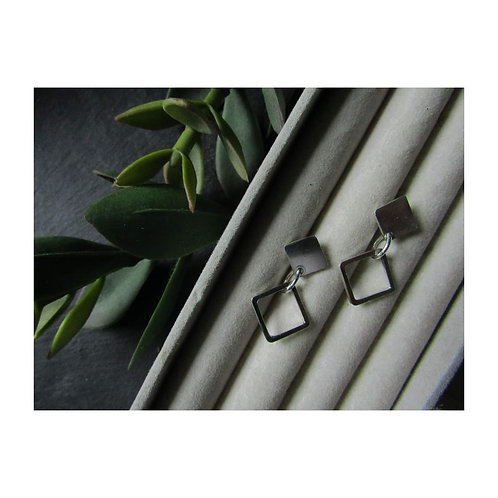 Double Square Studs