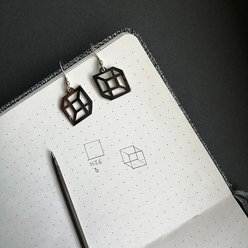 Illusion Cube Earrings