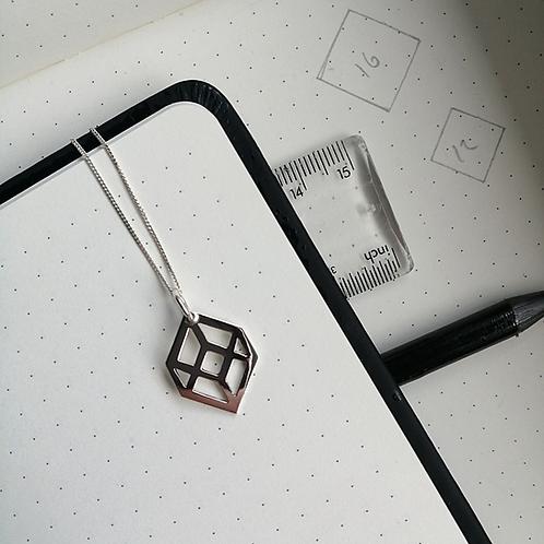 Mini Illusion Cube Pendant
