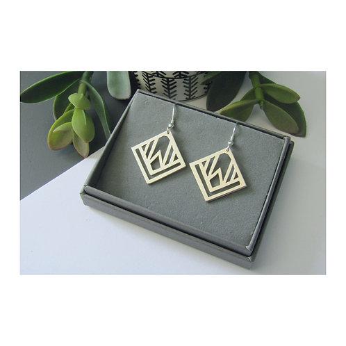 Geo Square Earrings
