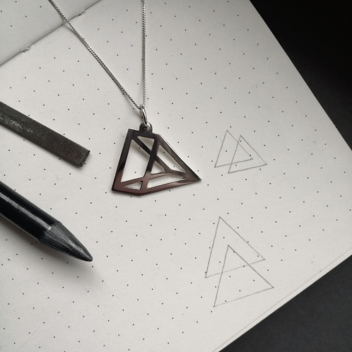Illusion Triangle Pendant