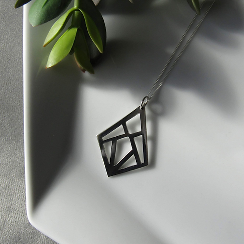 Geo Diamond Necklace