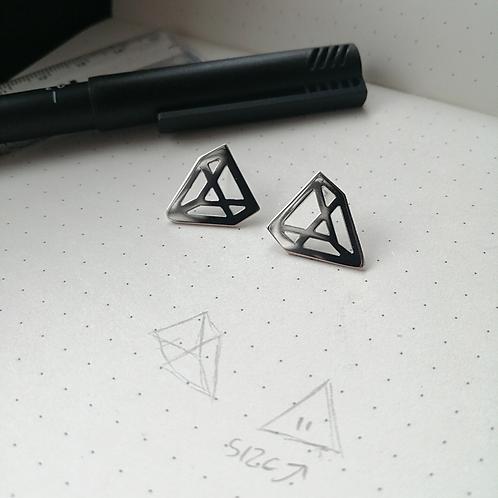 Illusion Triangle Studs