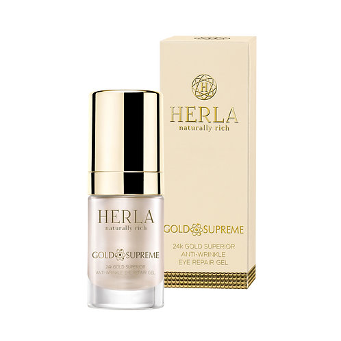 24k gold superior anti-wrinkle eye repair gel 15ml