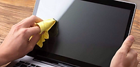 Wiping off Laptop Screen