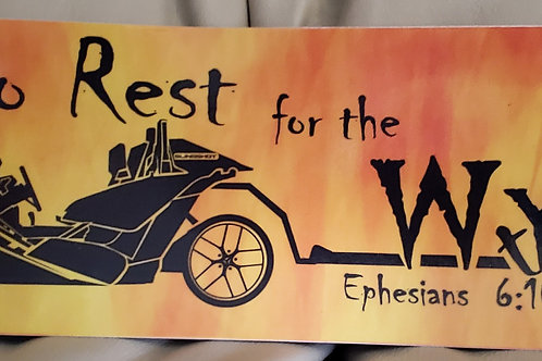 """""""No Rest for the Wycked"""" Bumper Sticker"""