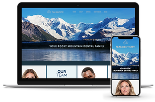 Peak Dentistry Mock Website Truly Dental Marketing Website Development and Design