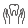 Hands holding tooth icon for general dentist
