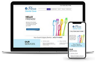Floss Dental Care Calgary Dentist Truly Dental Marketing Website Development and Design