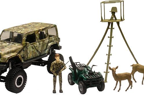 New-Ray Jeep Wrangler Hunting Replica Set