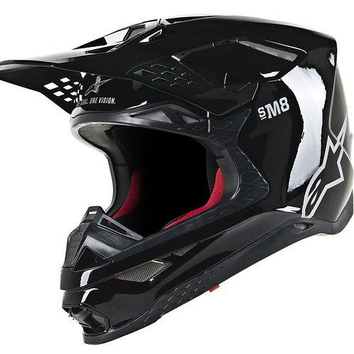 Alpinestars S.Tech S-M8 Helmet Glossy Black