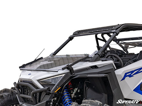 SuperATV Polaris RZR PRO XP Scratch Resistant Flip Down Windshield