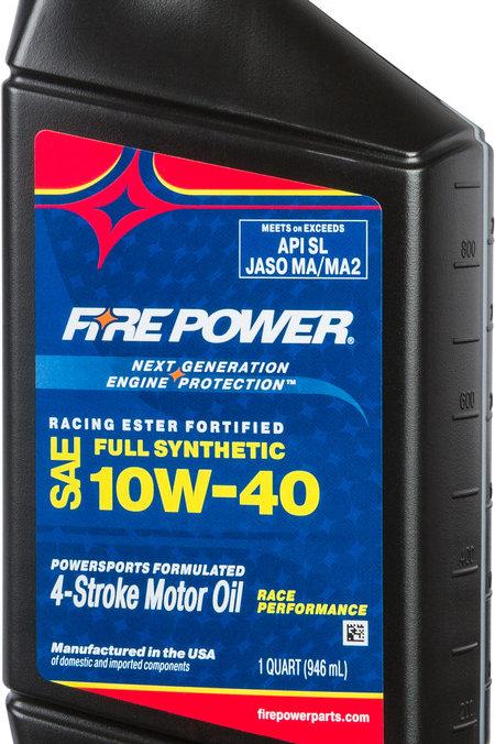 Fire Power Synthetic 10W-40 4-Stroke Oil