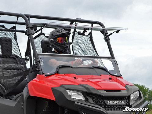 SuperATV Honda Pioneer 700 Scratch Resistant Flip Windshield