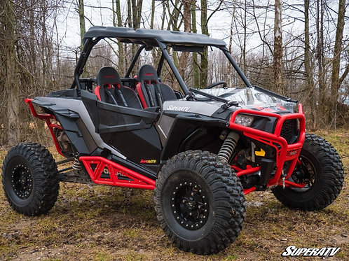 SuperATV Polaris RZR XP 1000 Scratch Resistant Flip Down Windshield