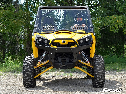 SuperATV Can-Am Commander Scratch Resistant Vented Full Windshield