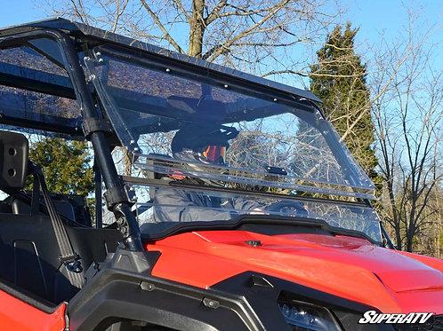SuperATV Honda Pioneer 1000 Scratch-Resistant Flip Windshield