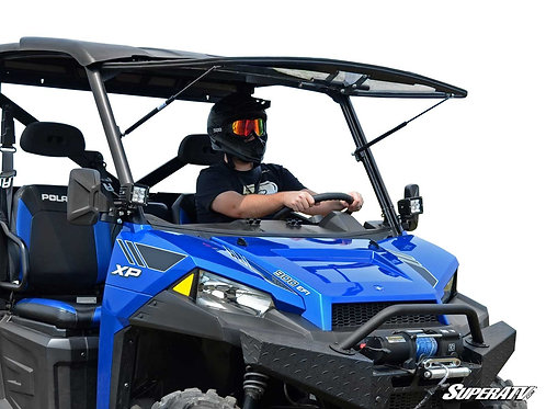 SuperATV Polaris Ranger XP 570 Scratch Resistant Flip Windshield