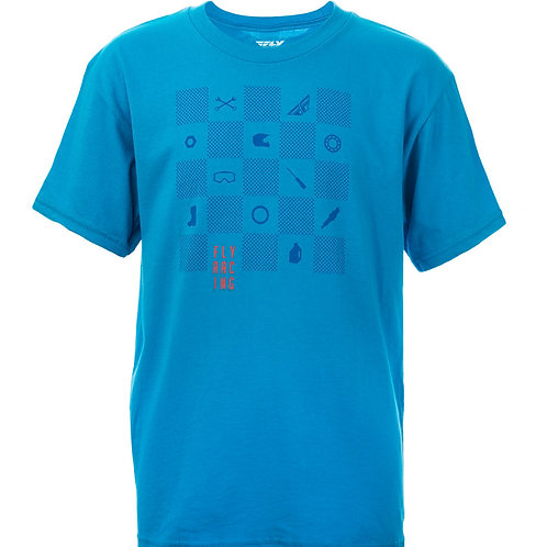 Fly Racing Youth Checkers Tee