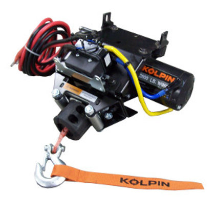 3,500 lb Synthetic Rope Quick Attach Winch - Honda ATV