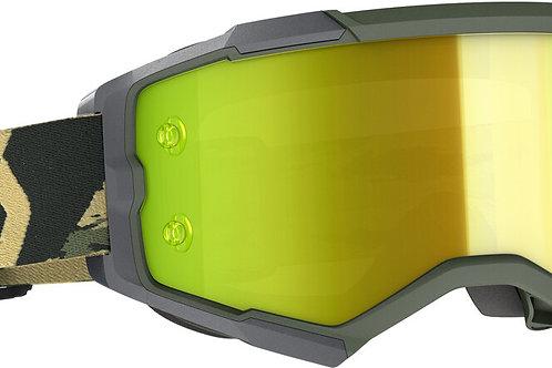 Scott Fury Goggle Military Camo Khaki Yellow Chrome Works