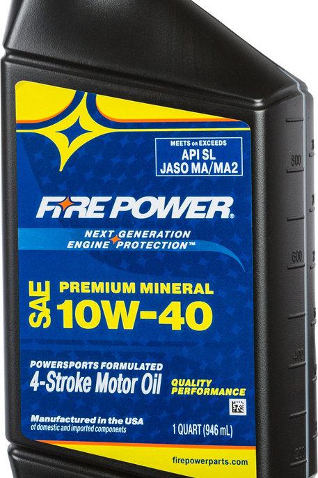 Fire Power Mineral 10W-40 4-Stroke Oil