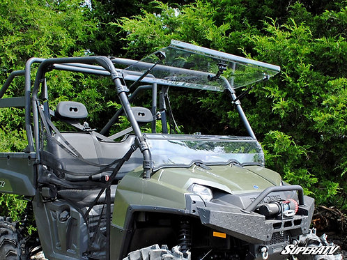 SuperATV Polaris Ranger Full-Size 570 Scratch Resistant Flip Windshield