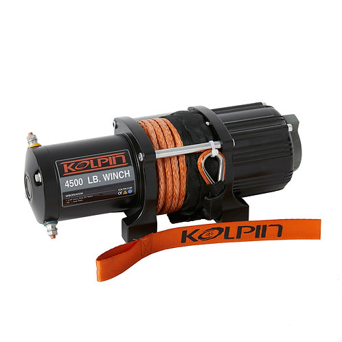 4,500 lb Kolpin Winch (Synthetic Rope)