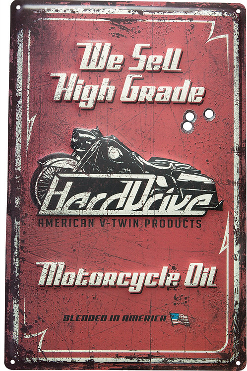 Harddrive M/C Oil Sign