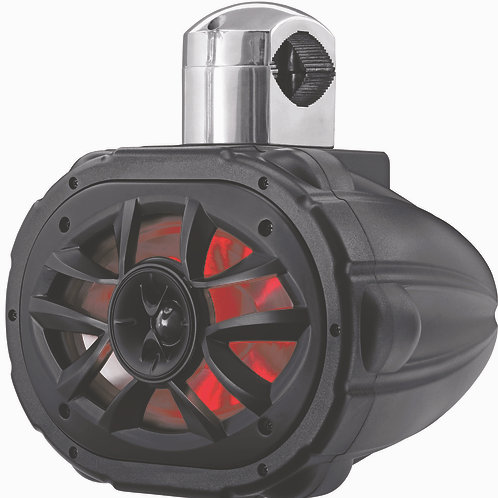 "Marine Speaker Boss Audio 600W 6""X9"" RGB LED Black with 4-Way Cage Mount 1 Piece"