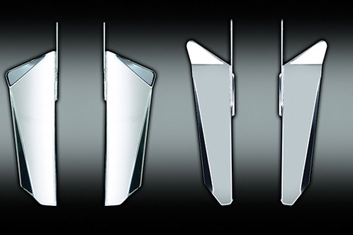 National Cycle Switchblade Chrome Lowers H-D For Qs Kits