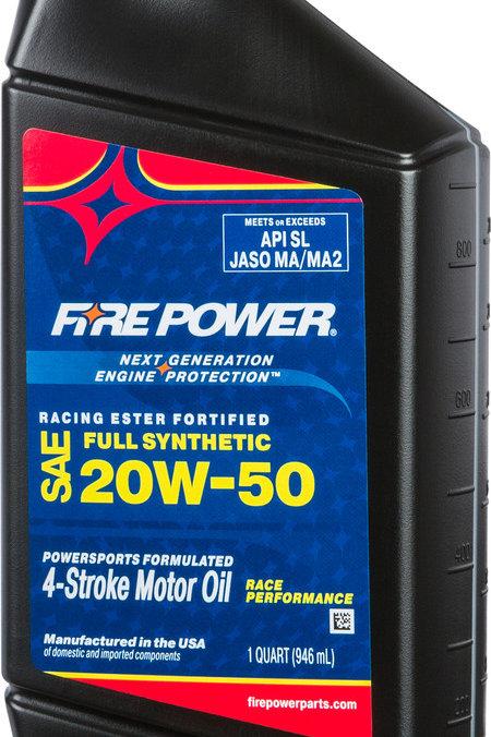 Fire Power Synthetic 20W-50 4-Stroke Oil