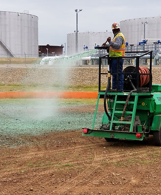 Hydro-seeder Hydro-seeding Tank farm maintenance
