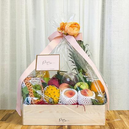 • Piscor木制禮盒 • 豪華進口生果 Size L