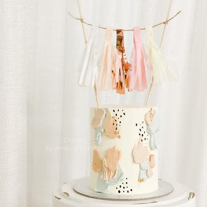 油畫風紙條蛋糕
