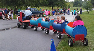 5 Stones Express barrel train at Freedom Fest