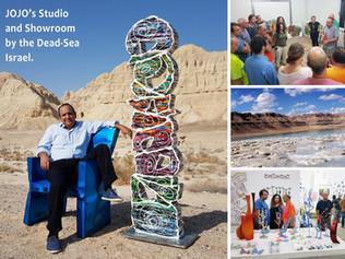 הסטודיו והאולם התצוגה של ג'וג'ו בים המלח