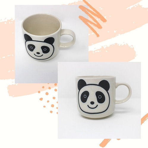 Pair of Panda Cups with Handle