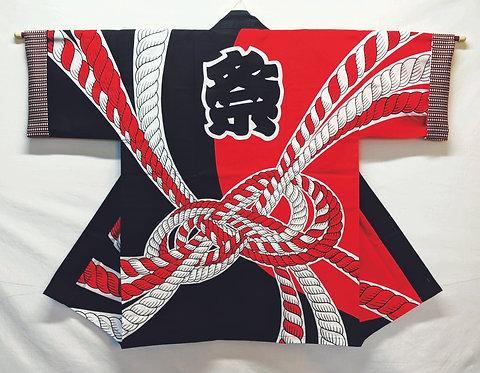 Red Black Matsuri Noshi Happi