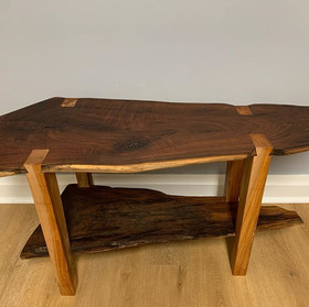 Hand-Knotched Coffee Table