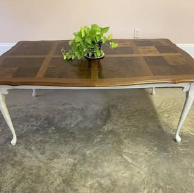 Burl Veneer Dining Table