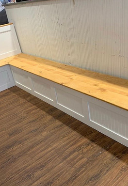 L-Shaped Bench with Storage