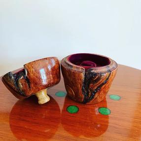 Wood Burl Ring Box