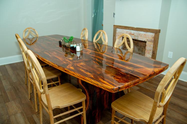 9' Epoxy Barnwood Conference Table