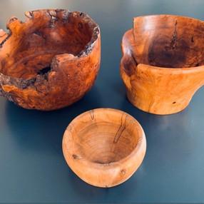 Wood Burl Bowls