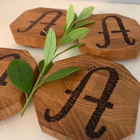 Monogrammed Wood Coasters