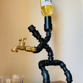 Metal Piping Wine Pourer