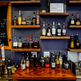 Bar Shelving & Herringbone Countertop