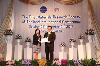 PhD Chemistry student won the best oral presentation award in international conference