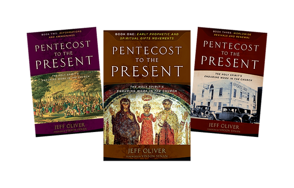 Pentecost to the Present: The Holy Spirit's Enduring Work in the Church. Jeff Oliver. Trilogy. Book series. Three books. Complete set.